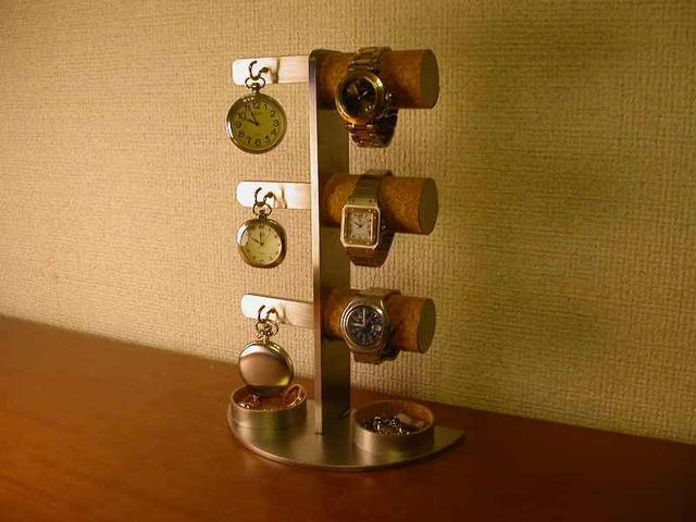 腕時計収納、保管!腕時計&懐中時計スタンド 丸パイプトレイ