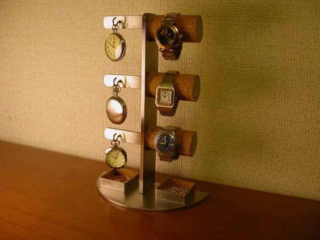腕時計収納、保管!腕時計&懐中時計スタンド 角パイプトレイ