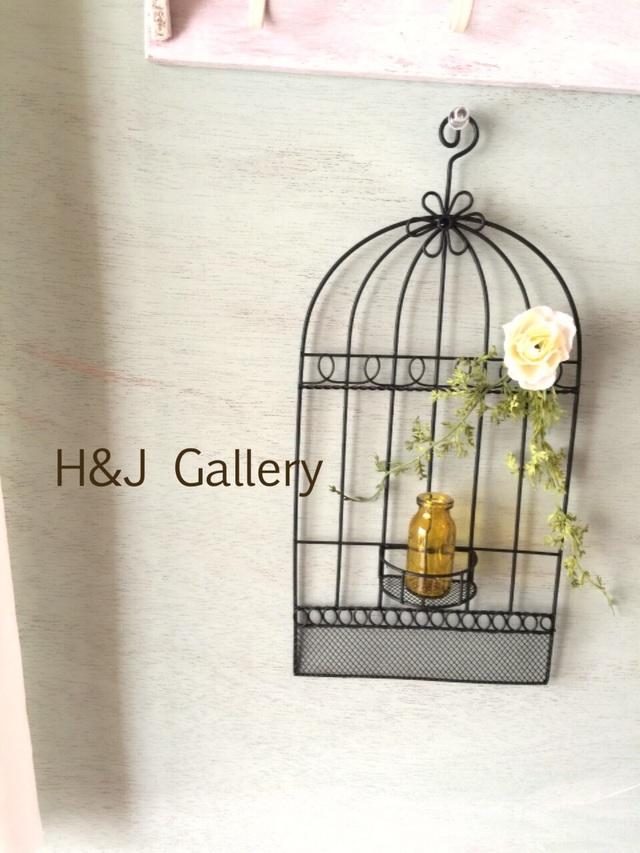 ○鳥かごの壁飾り オリーブ