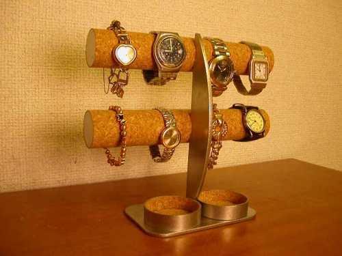 腕時計収納!丸トレイ三日月支柱8本掛け腕時計収納スタンド