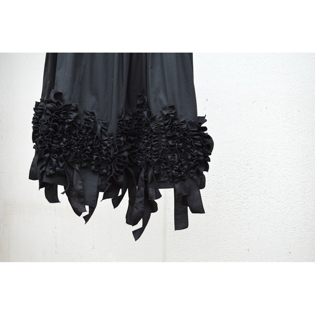 ��SALE��BLACK BLOAD FRILL OVERSKIRT ��S��M�ۡ�COTTON BROAD��