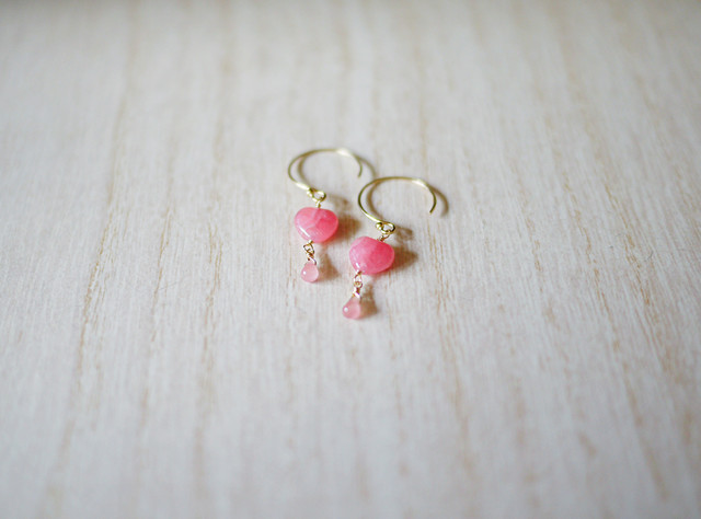 (Sold out)[K14gf]インカローズハートピアス