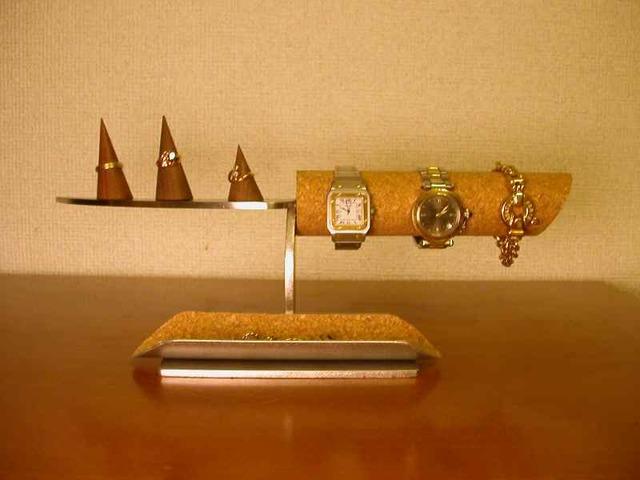 インテリアデザイン腕時計、指輪スタンドロングハーフパイプトレイ