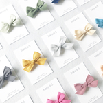 cotton ribbon clip  <12 colors >※ヘアゴムに変更可能