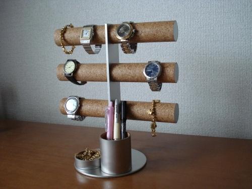 腕時計スタンド 12本掛け腕時計タワースタンド トレイ,ペン入れトレイバージョン