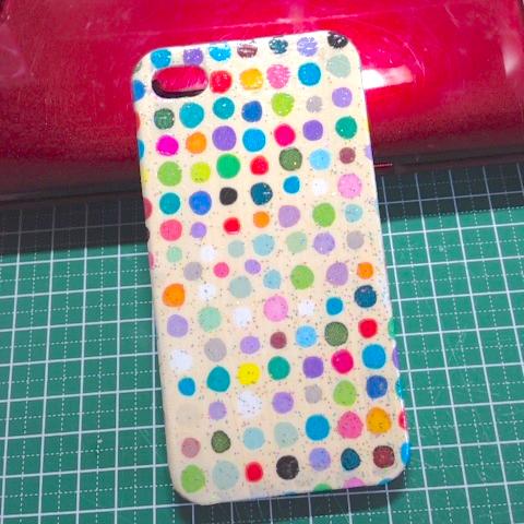 iPhone5ケース(ドット)