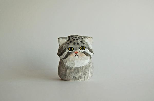木彫り人形 マヌルネコ [MWF-026]