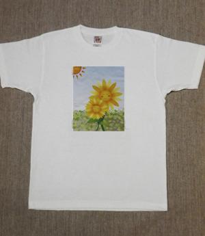 レディースTシャツ・Lサイズ 『ひまわり』