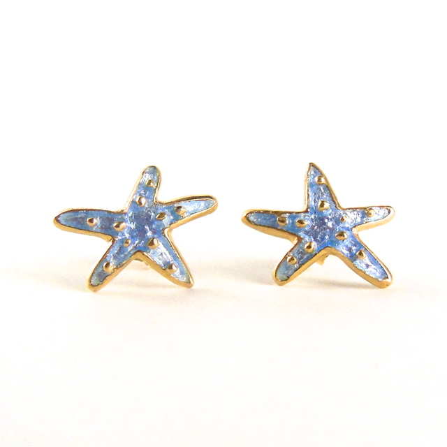 Starfish Pierced Earrings/Aqua**Wint...