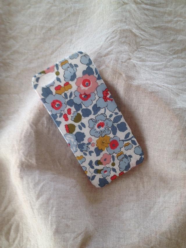 リバティ iphoneSE iphone5/5s (ベッツィ グレー系)