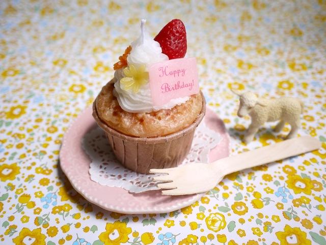 カップケーキのバースデーキャンドル