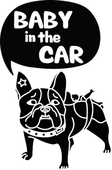 フレンチブルドッグ「BABY in the CAR」ステッカー