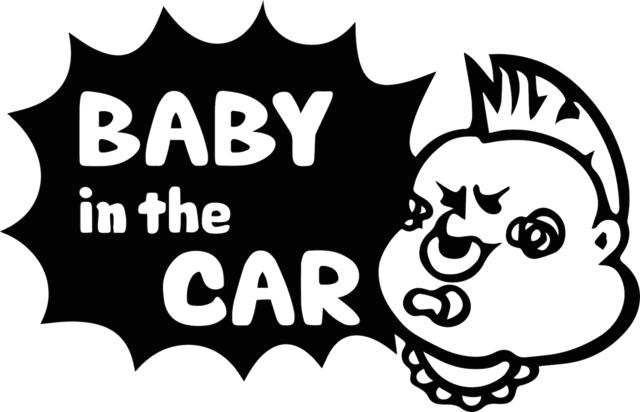 モヒカン「Baby in the CAR」ステッカー