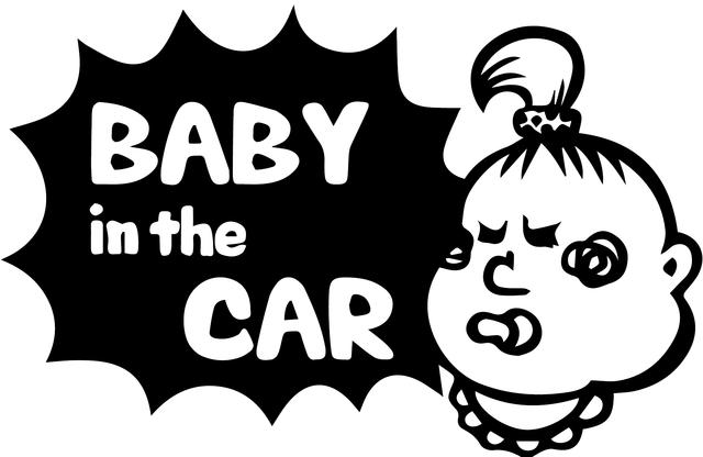 やんちゃ「Baby in the CAR」ステッカー