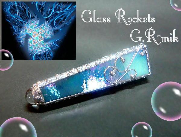 水中の華:万華鏡(テレイドスコープ)ステンドグラス (再販)