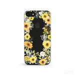 Sunflower Craze クリアソフト ケース[iPhone5~iPhoneXS, iPhoneXS Max/ XR & Samsung Android]