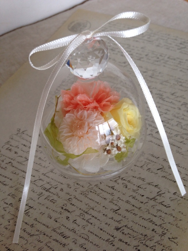 3color's flower (プチガラスドーム) [再販]