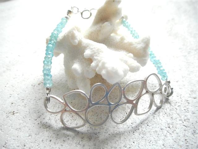 海の泡とアパタイトのブレス silver925