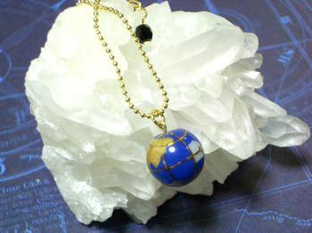 ラピスラズリの地球ネックレス