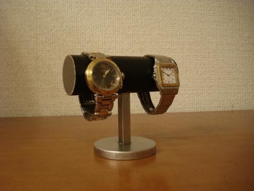 \t 誕生日プレゼントに!ブラック台座どっしり2本掛け腕時計スタンド