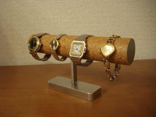 彼へのプレゼントなら!4本掛けインテリアどっしり腕時計スタンド