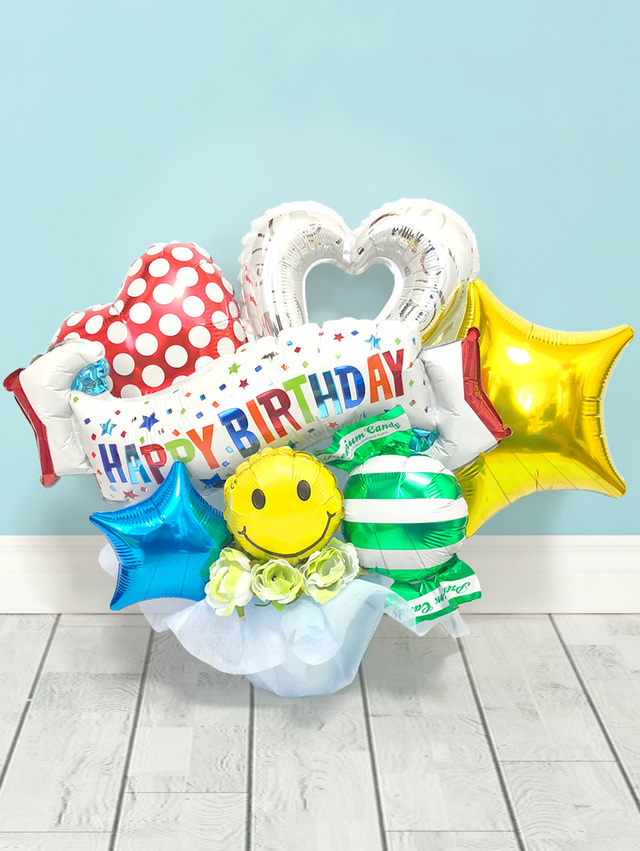 バルーンギフト happybirthday or congratulations ハンドメイド