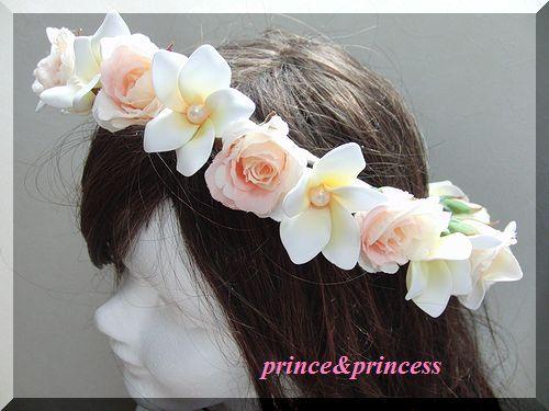 ハワイウエディング*海外ウエディング*プルメリアの花冠