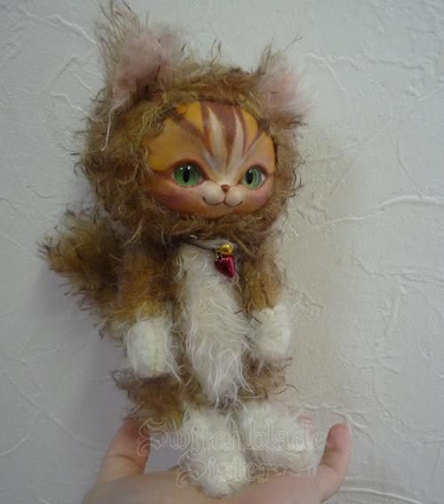 フェイスタイプドール*猫(ブラウンタビー)ネコ