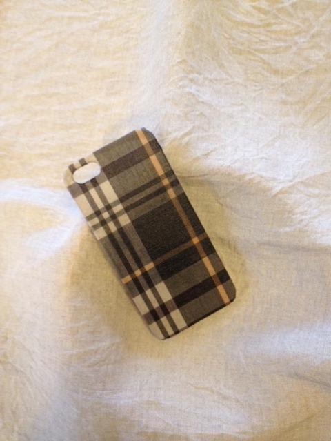 布張り iphoneケース iphone5/5s(ブラウンチェック)