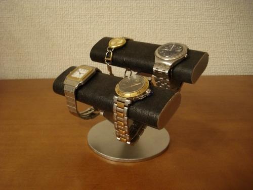 ギフトに★ブラックダブル楕円腕時計スタンド
