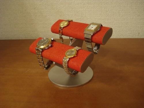 レッド4本掛けだ円腕時計スタンド