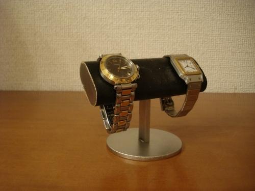 腕時計スタンド 丸台座2本掛け腕時計スタンド ブラック!