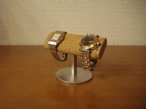 大事な方にプレゼント 腕時計スタンド 丸台座2本掛け腕時計スタンド