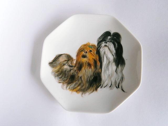 テリー犬の絵皿