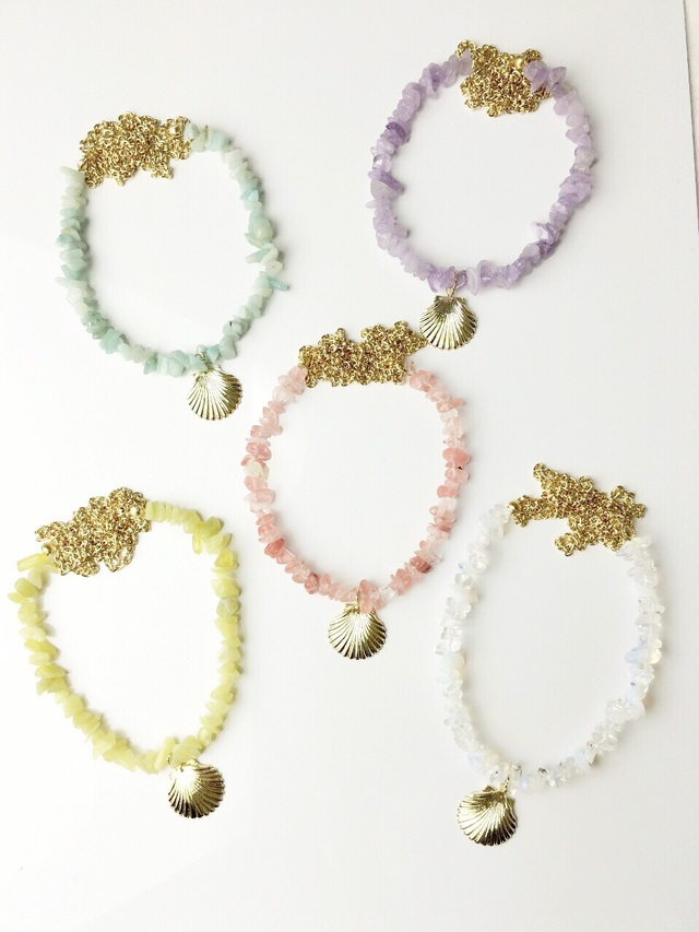 ☆sale☆natural stone long necklace☆全5色