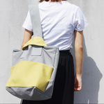 【 NEW 】CLOUCHY SHOULDER BAG(ライトグレー×ライムイエロー)