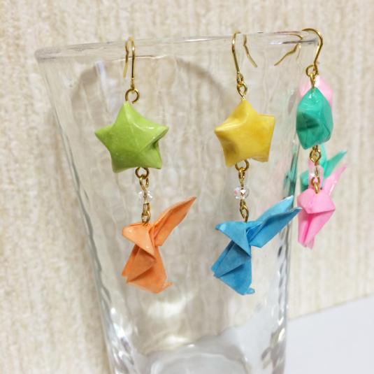 クリスマス 折り紙:うさぎ 折り紙-minne.com