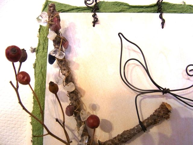 ワイヤーのピクチャー     「小鳥と枝」