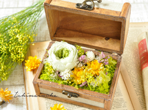trunk box flower 〜yellow×green〜