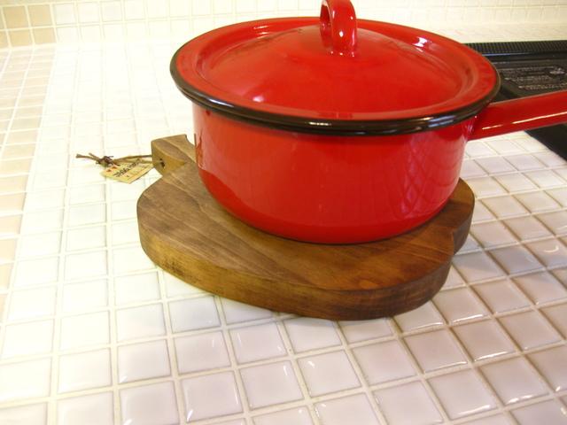 鍋敷き アップル(大)ブラウン