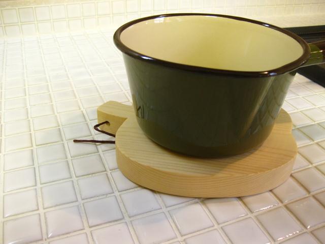 鍋敷き アップル(大)クリアー