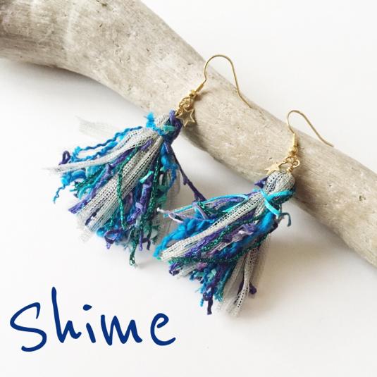 ☆再販×2☆ tassel pierce BLUE