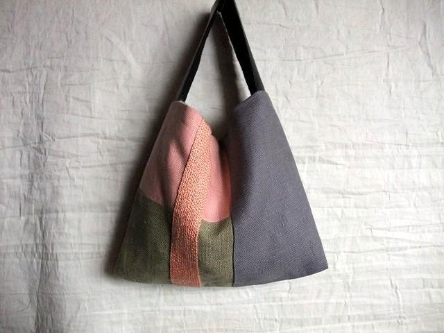 itoiro petit bag (pink/midori)
