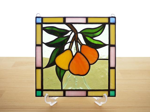 ステンドグラス ミニパネル びわ 15cm