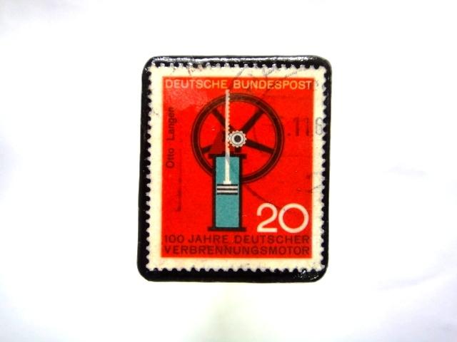 ドイツ 切手ブローチ873