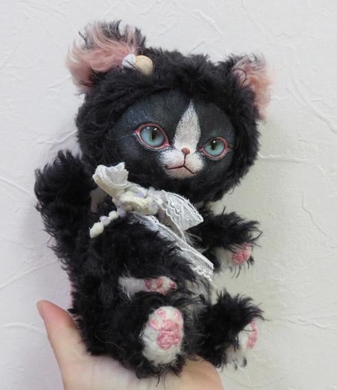 フェイスタイプドール*猫:黒×白