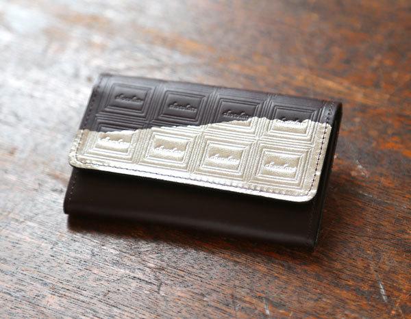 【L様お取り置き分】※ビターチョコ 革のチョコレート・名刺入れ(銀の包み紙)