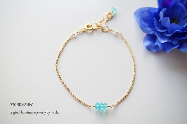 ?宝石質ブルーアパタイト?amulet?bracelet?