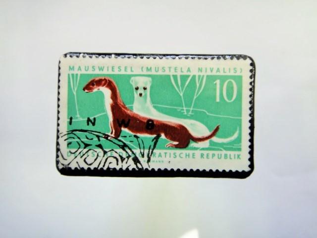ドイツ 切手ブローチ879
