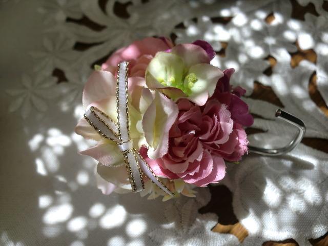 お花のマグネットフック<紫>